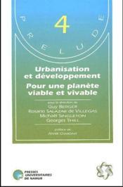 Urbanisation et développement pour une planète viable et vivable - Couverture - Format classique