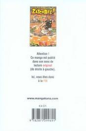 Zatchbell T10 - 4ème de couverture - Format classique