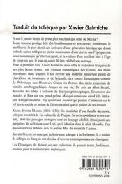 Pèlerin et brigand de bohême - 4ème de couverture - Format classique