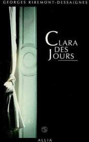 Clara Des Jours - Couverture - Format classique