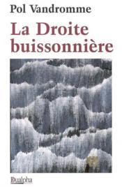 La droite buissonniere - Couverture - Format classique