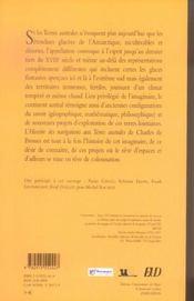Mythes Et Geographie Des Mers Du Sud ; Histoire Des Navigations Aux Terres Australes - 4ème de couverture - Format classique