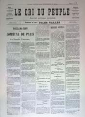 Cri Du Peuple (Le) N°51 du 21/04/1871 - Couverture - Format classique