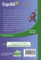 Dragon ball t.10 ; la tour infernale - 4ème de couverture - Format classique