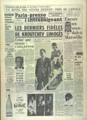 Paris Presse L'Intransigeant N°6205 du 18/11/1964 - Couverture - Format classique