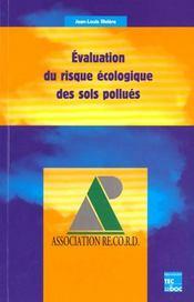 Evaluation du risque ecologique des sols pollues - Intérieur - Format classique
