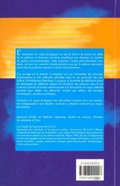 Evaluation du risque ecologique des sols pollues - 4ème de couverture - Format classique