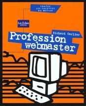 Profession webmaster - Intérieur - Format classique