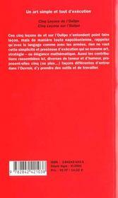 Art Simple Et Tout D'Execution (Un) - 4ème de couverture - Format classique