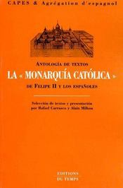 Antologia de textos ; la «monarquía católica» - Couverture - Format classique