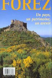 Balades Et Randonnees ; Le Forez ; Entre Loire Et Crêtes - 4ème de couverture - Format classique