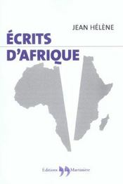 Ecrits D'Afrique - Intérieur - Format classique