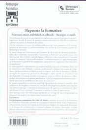 Repenser La Formation - 4ème de couverture - Format classique