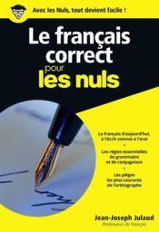 Le français correct pour les nuls - Couverture - Format classique