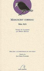 Manuscrit Corbeau - Couverture - Format classique