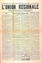 Union Regionale (L') N°1107 du 16/11/1939 - Couverture - Format classique