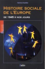 Histoire sociale européenne - Couverture - Format classique