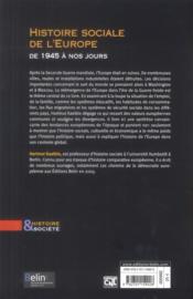 Histoire sociale européenne - 4ème de couverture - Format classique