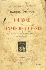 Journal De L'Annee De La Peste - Couverture - Format classique