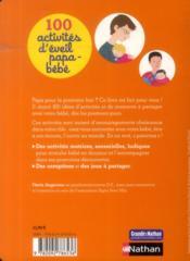 100 activités d'éveil papa-bébé - 4ème de couverture - Format classique