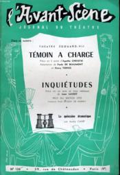 L'AVANT-SCENE JOURNAL DU THEATRE N° 136 - THEATRE EDOUARD-VII: TEMOIN A CHARGE, pièce en 3 actes d'AGATHA CHRISTIE, adaptation de PAULE DE BEAUMONT et HENRY TORRES - Couverture - Format classique