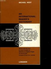 An International Reader'S Dictionnary - Couverture - Format classique
