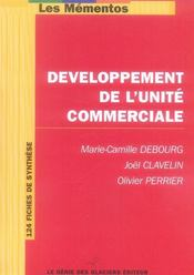 Developpement De L'Unite Commerciale  - Debourg Marie C