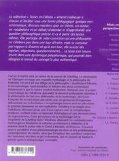 Schelling Art Et Mythologie - 4ème de couverture - Format classique