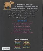 Petit Elephant (Le) - 4ème de couverture - Format classique