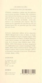 Stevenson Sous Les Palmiers - 4ème de couverture - Format classique