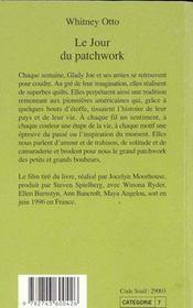 Le Jour Du Patchwork - 4ème de couverture - Format classique