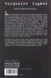 Turquoise Fugace - 4ème de couverture - Format classique