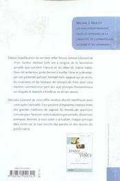 Decodez Leonard De Vinci Cultivez Votre Spiritualite - 4ème de couverture - Format classique