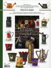 Peindre sur métal ; animaux de nos campagnes - 4ème de couverture - Format classique
