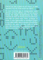 Dictionnaire Insolite Francais Sms - 4ème de couverture - Format classique