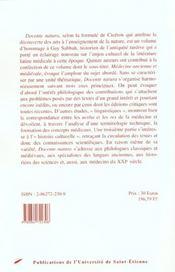 Docente Natura Hommage A Guy Sabbah - 4ème de couverture - Format classique