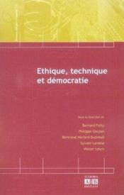 Éthique, technique et démocratie - Couverture - Format classique