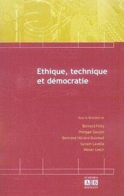 Éthique, technique et démocratie - Intérieur - Format classique