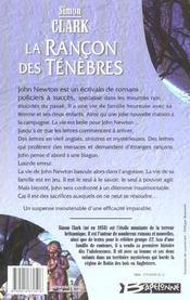 Rancon Des Tenebres (La) - 4ème de couverture - Format classique