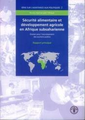 Securite alimentaire et developpement agricole en afrique subsaharienne. dossier pour l'accroissemen - Couverture - Format classique