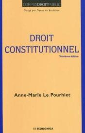 Vente  Droit constitutionnel (2e édition)  - Anne-Marie Le Pourhiet