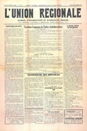 Union Regionale (L') N°1109 du 30/11/1939 - Couverture - Format classique