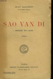 Sao Van Di. Moeurs Du Laos. - Couverture - Format classique