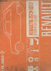 P. R. 962 - Renault 5 - 1972 - 1973 - R 1220 - R 1221 - R 1222 - Couverture - Format classique