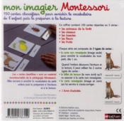 Mon imagier Montessori ; à partir de 3 ans - 4ème de couverture - Format classique
