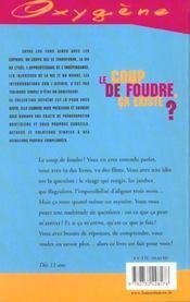 Coup De Foudre, Ca Existe ? (Le) - 4ème de couverture - Format classique