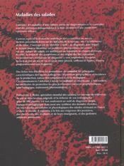 Maladies de la salade ; identifier, connaître, maîtriser - 4ème de couverture - Format classique
