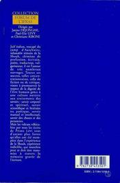 Shoah, Memoire Et Ecriture : Primo Levi Et Le Dialogue Des Savoirs - 4ème de couverture - Format classique