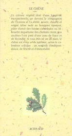 Le chene forestier - 4ème de couverture - Format classique