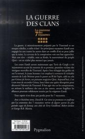 La couronne des 7 royaumes t.8 ; la guerre des clans - 4ème de couverture - Format classique